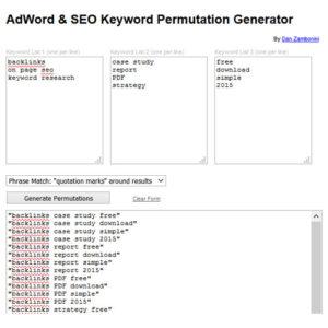 AdWord-&-SEO-Keyword-Permutation-Generator